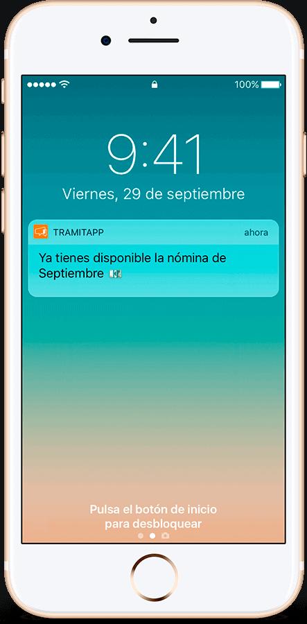 TramitApp Control Horario te permite distribuir las nóminas al móvil de cada empleado
