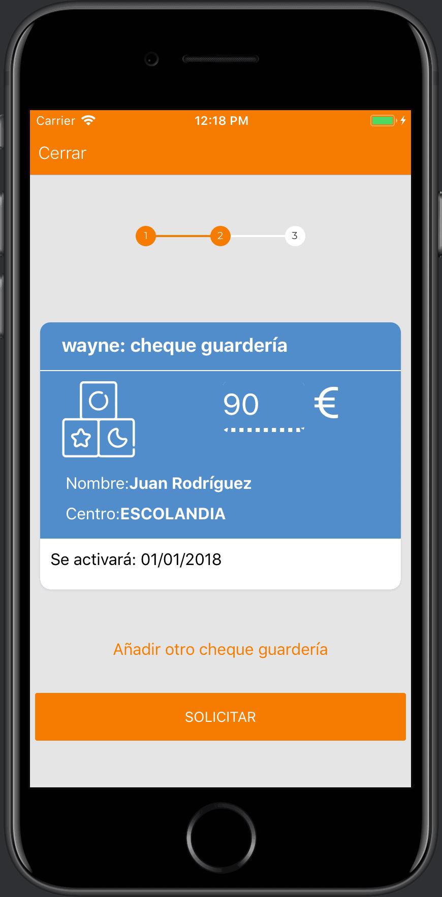 solicitud de cheque guardería desde iphone