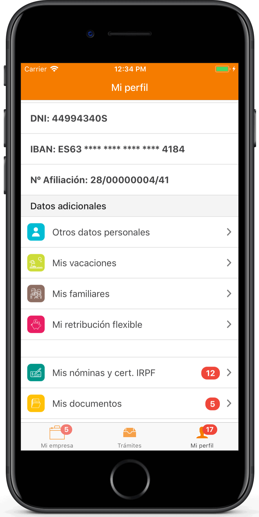 TramitApp Control Horario  - Gestor documental en la APP