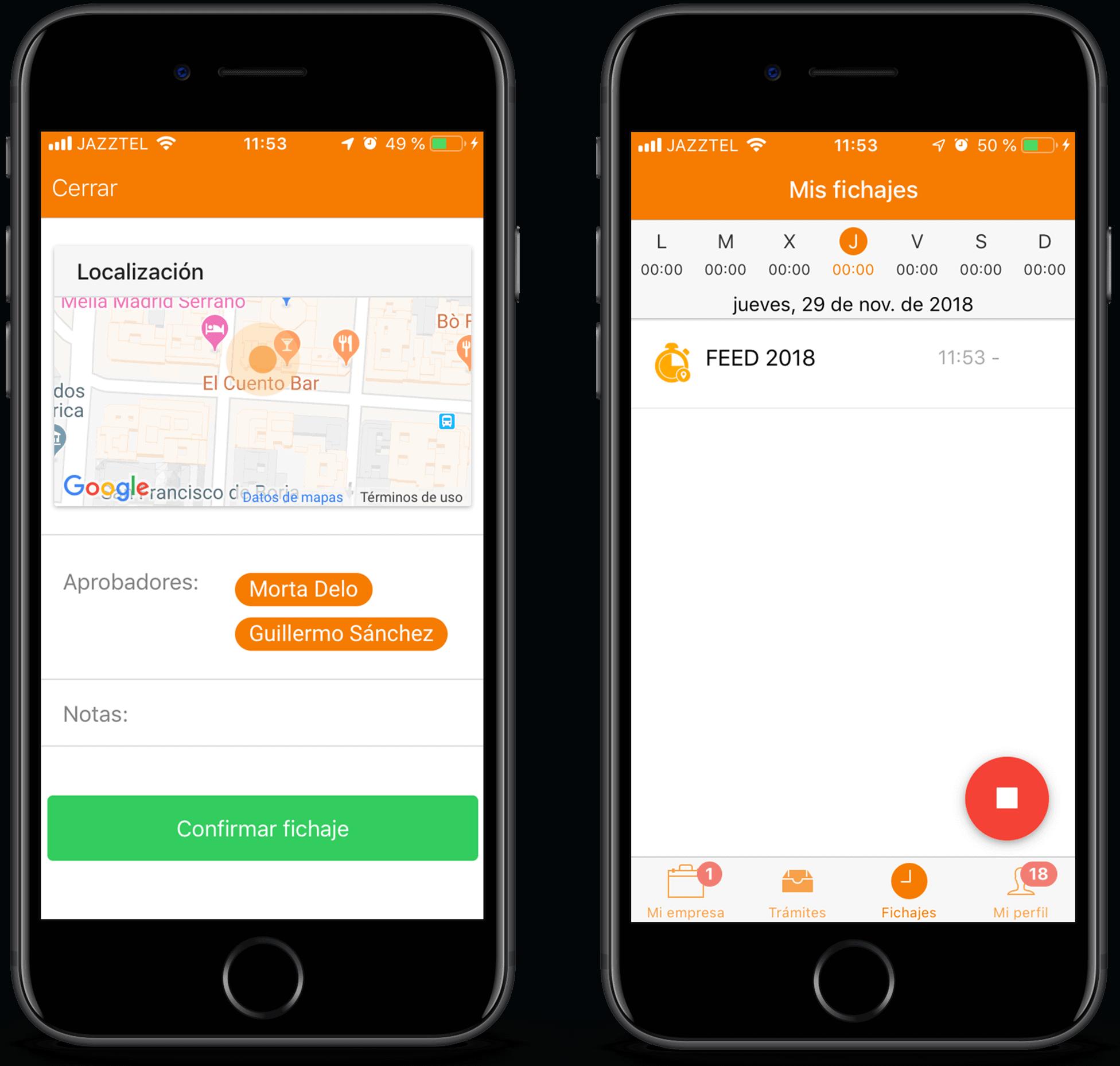 TramitApp Control Horario es la app de control horario que te permite cumplir la ley.