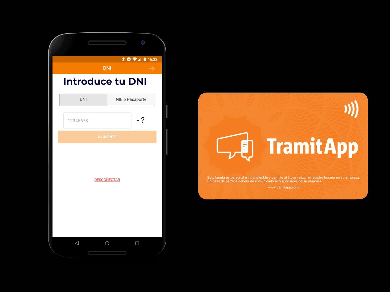 TramitApp Control Horario es la app de control horario que permite fichar en el trabajo con tarjeta