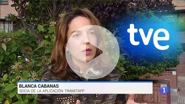 Blanca Cabanas, socia de TramitApp, explica el Control Horario en televisión TVE1