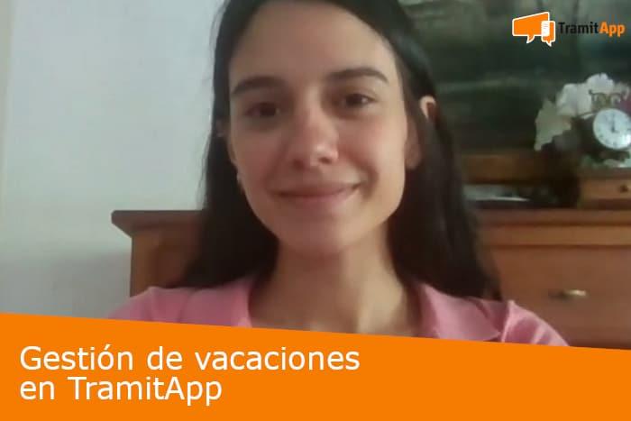 Gestión de vacaciones en TramitApp
