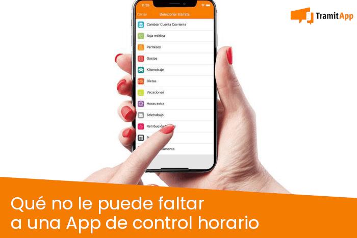 Qué no le puede faltar a una App de control horario
