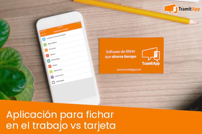 Aplicación para fichar en el trabajo vs tarjeta