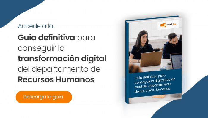 Guía definitiva para conseguir la ransformación digital del departamento de Recursos Humanos
