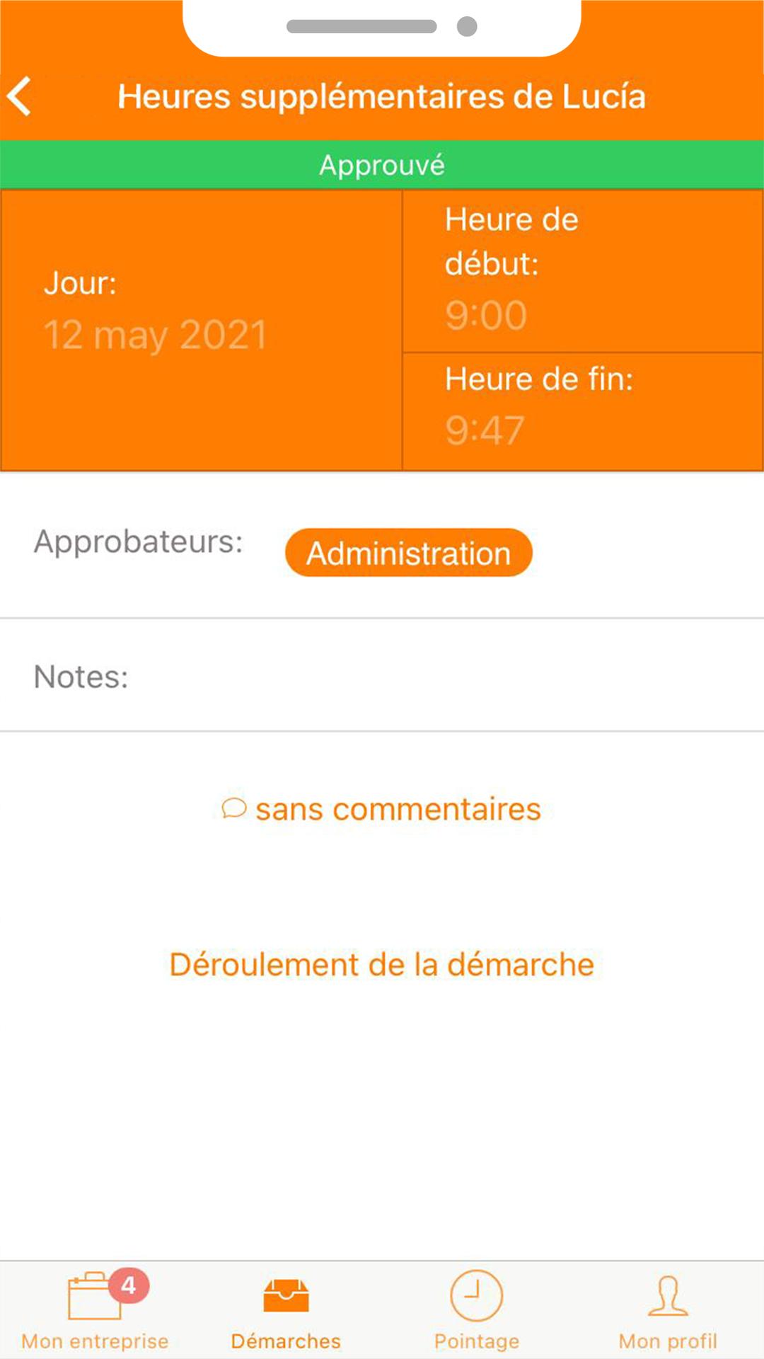 TramitApp Control Horario controla el registro de horas de empleados